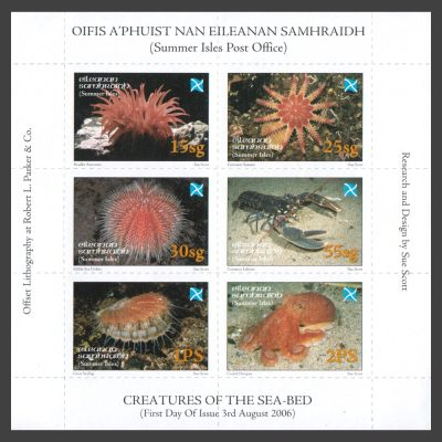 Summer Isles 2006 Creatures of the Sea-Bed Sheetlet (6v, 15sg to 2PS, U/M)