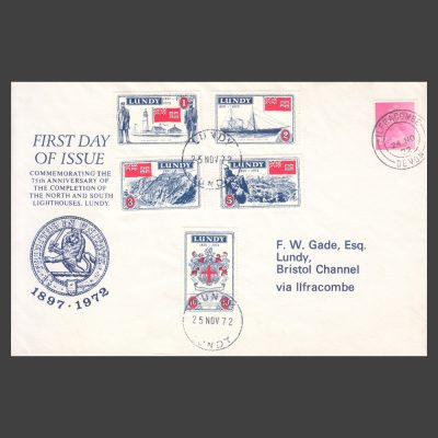 Lundy 1972 Trinity House First Day Cover (FDC)