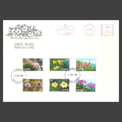 Lundy 1996 Flora First Day Cover (FDC)