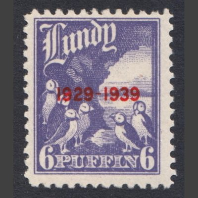 Lundy 1939 10th Anniversary of Lundy Post (6p - single value, U/M)