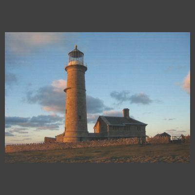 Postcard - The Old Light, Evening, Lundy Island, c.1980s
