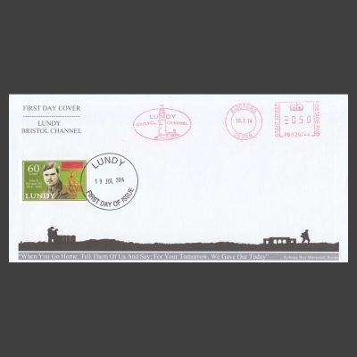 Lundy 2014 John P. Harman VC Birth Centenary First Day Cover (FDC)