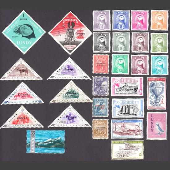 Lundy Starter Collection - 30 Different Stamps - All Unmounted Mint