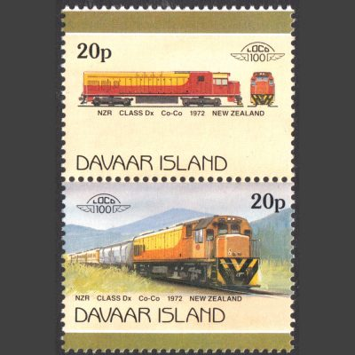 Davaar Island 1986 New Zealand Class DX Diesel-Electric Train (2x 20p, U/M)