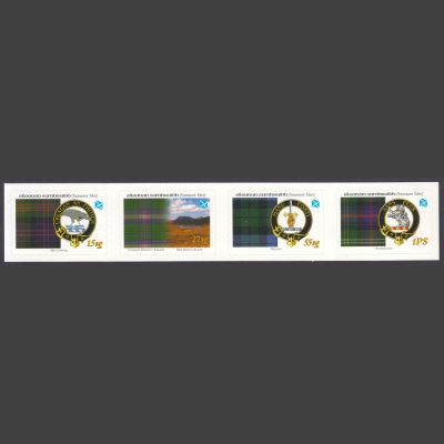 Summer Isles 2008 Tartans of the Far North – Second Issue - Se-tenant Strip (4v, 15sg to 1PS, U/M)