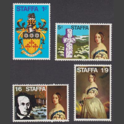 Staffa 1969 Definitives (4v, 1d to 1s9d, U/M)