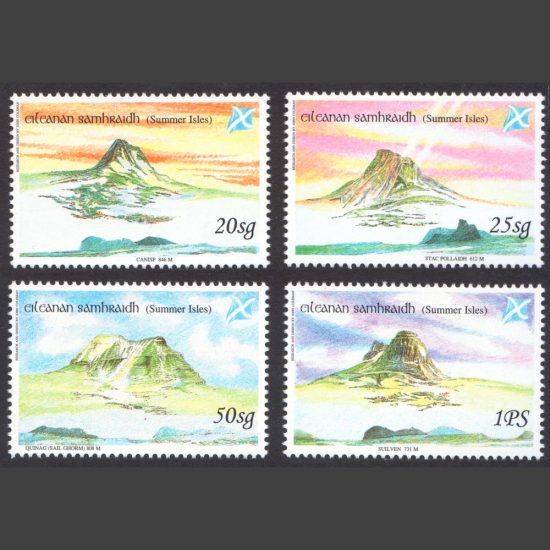 Summer Isles 1998 Hills of Assynt-Coigach (4v, 20sg to 1PS, U/M)
