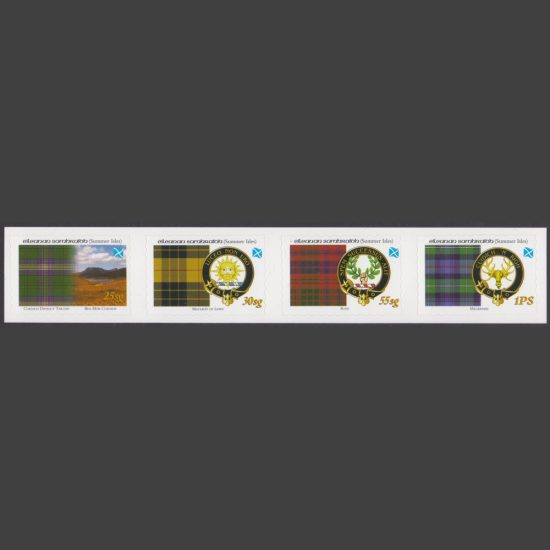 Summer Isles 2005 Tartans of the Far North – First Issue - Se-tenant Strip (4v, 25sg to 1PS, U/M)