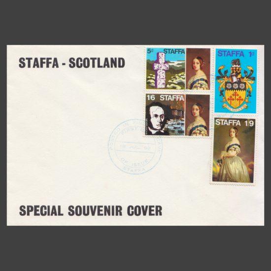 """Staffa 1969 Definitives """"Special Souvenir Cover"""" (FDC)"""