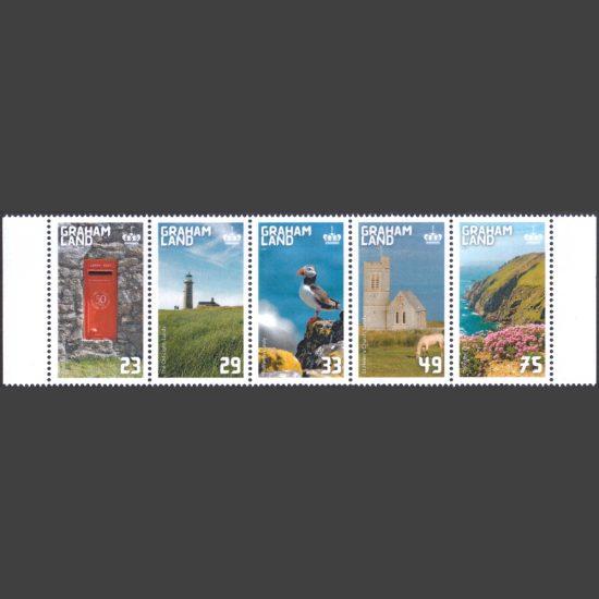 Graham Land 2021 Lundy Landscapes (5v, 23g to 75g, U/M)
