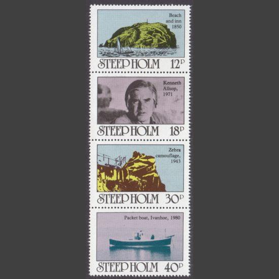 Steep Holm 1980 Inaugural Issue (4v, 12p to 40p, U/M)