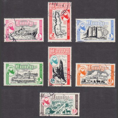 Lundy 1954 Silver Jubilee - 25 Years of Lundy Post - Seamail Issue (7v, ½p to 12p, CTO)