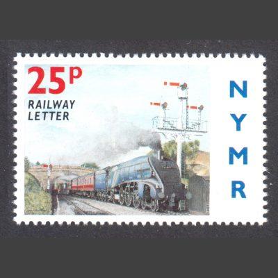 North Yorkshire Moors Railway 1996 25p Visit of LNER Class A4 Sir Nigel Gresley (U/M)