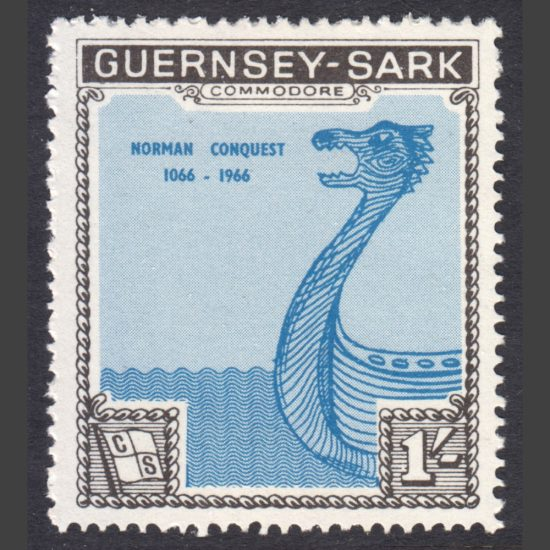 Guernsey-Sark Commodore Shipping 1966 Norman Conquest - Battle of Hastings (1s, U/M)