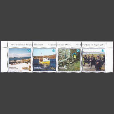 Summer Isles 2004 Tìr a' Ghàidheil - Land of the Gael - Se-tenant Strip (4v, 25sg to 1PS, U/M)