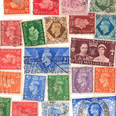 Great Britain - 20 Different Used King George VI Stamps