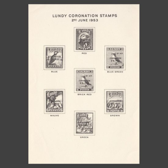 Lundy 1953 Coronation Publicity Sheet (U/M)