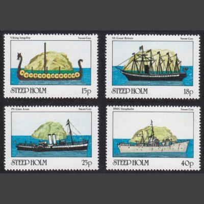 Steep Holm 1982 Maritime Bristol (Ships) (4v, 15p to 40p, U/M)