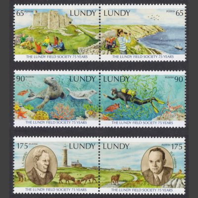 Lundy 2021 The Lundy Field Society 75 Years (6v, 65p to 175p, U/M)