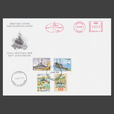 Lundy 2006 100th Anniversary of the Stranding of the Battleship HMS Montagu on Lundy First Day Cover (FDC)