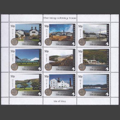 Islay 2021 Islay Whisky Tour Miniature Sheet (9 x 50p, U/M)