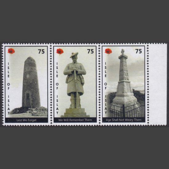 Islay 2019 War Memorials - Remembrance (3 x 75p, U/M)