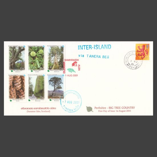 Summer Isles 2001 Perthshire - Big Tree Country First Day Cover (FDC 6v, 15sg to 1PS)